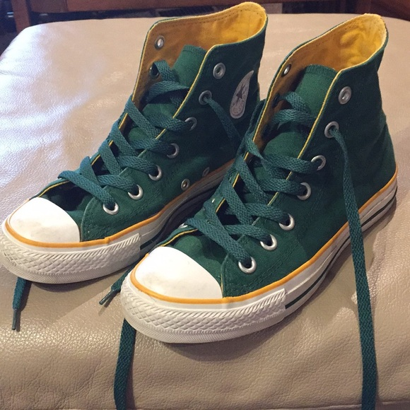 Converse Shoes - Green and Yellow Converse 0b9ddc52e